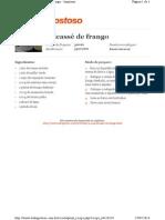 FRICASSÉ DE FRANGO
