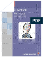 Numerical Methods - Assignment No. 03