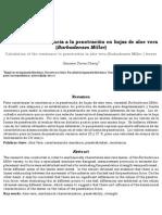 Cálculo de la resistencia a la penetración en hojas de aloe vera