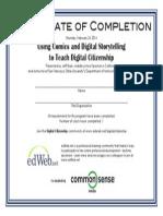 Ed Web Certificate