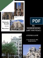 El Modernismo y Antonio Gaudi