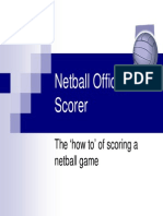 How to Score a Netball Game