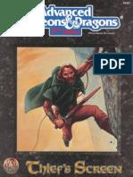 AD&D Thiefs Screen