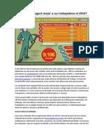 Qué sector pagará mejor a sus trabajadores el 2014