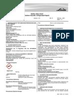 Carbon Dioxide SDS Liquefied Gas EU Format Linde HiQ Jan 2011