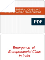 Entrepreneurial Class and Socio-economic Environment