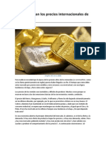 Por qué bajan los precios internacionales de los metales
