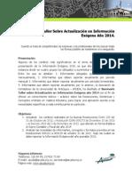 Justificacion Seminario Taller Informacion 2014