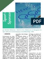 Marketing Sport Sponsoring Vade Mecum Du Management Du Sport COIB