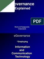 e-Governance Explained - Mukund Nadgowda