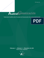 Revista Austral Comunicación - Vol 1 N° 2 Diciembre de 2012