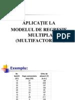 Aplicatie Regresie multipla