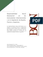 Responsabilidad Social Empresarial en los instrumentos internacionales y en la legislación de España, Francia y Argentina