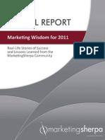 Wisdom Report 2011