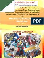 7.1 Diapositivas Proyecto Educativo Nacional