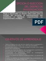 CONCEPCION O ELECCION DEL DISEÑO DE INVESTIGACION