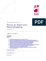 Policy on Electronic Recordkeeping