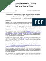 Stockman TP Open Letter