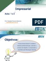 Gestão Empresarial - Aula 1 e 2  - 1s2014