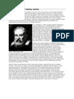 Brief Biography of Galileo Galilei