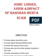 Ppt SM Harshad Mehta Scam