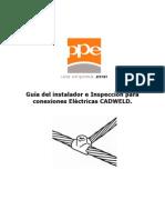 Guía del instalador e Inspección para conexiones Eléctricas Cadweld