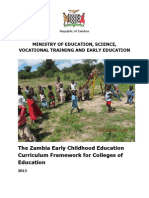 The Zambia Early Childhood Education Curriculum Framework for Colleges of Education -Final Draft