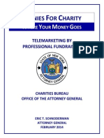 Pennies for Charity 2013 report, New York Attorney General's Office
