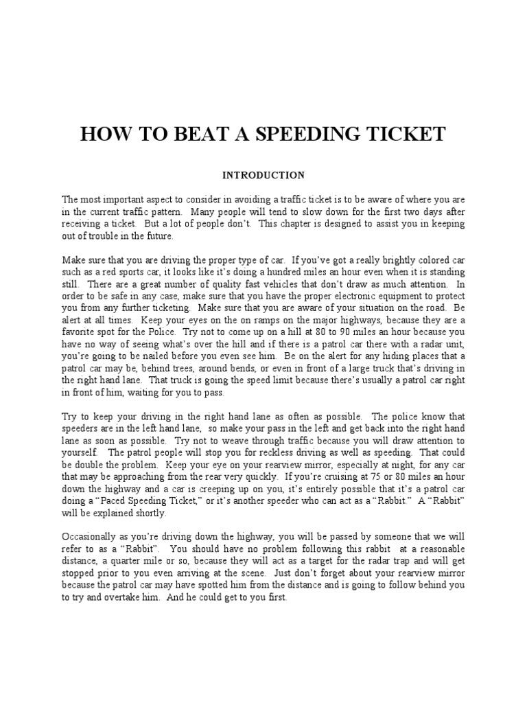 How To Beat A Speeding Ticket >> Ebook How To Beat A Speeding Ticket Prosecutor Traffic