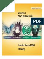 Mesh-Intro 14.0 WS-01 ANSYS Meshing Basics