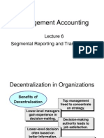 6. Lect th6 Segmental Reporting and Transfer Pricing