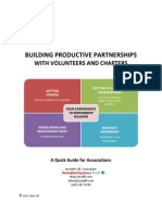 Building Productive Partnerships with Volunteers and Chapters