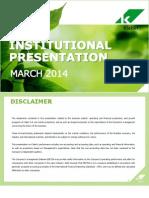 Institutional Presentation 4Q13