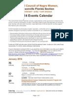 NCNW 2014 Events Calendar