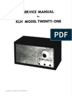 Klh 21 Service Manual