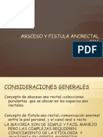 Absceso y Fistula Anorectal Int 2011