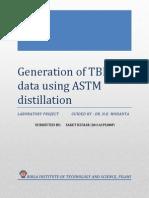 ASTM D-86 report