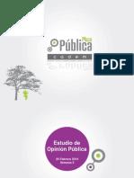 Estudio de opinión pública realizada por Cadem (Iccom),