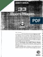 Owners Manual Sportwagon 93