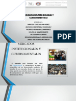 Mercados Institucionales y Gubernamentales