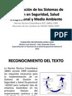 Relatoria La Integración de los Sistemas de Gestión HSE