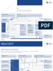 Handleiding Word 2013