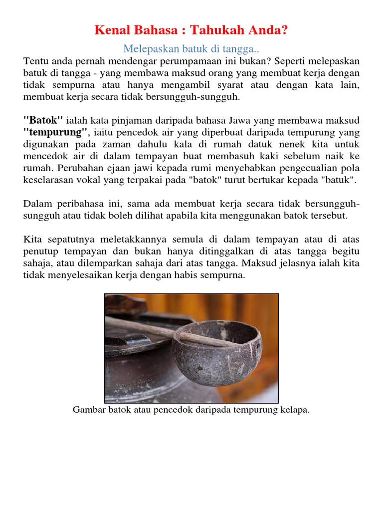 5 Peribahasa Melayu Yang Sering Disalahertikan Iluminasi