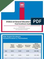 SY13-14 Enrollment Audit Overview (2.26.2014)[1]