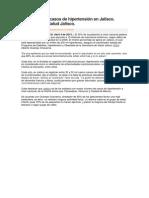 Aumentan los casos de hipertensión en Jalisco