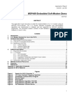 MSP430 Embedded modem