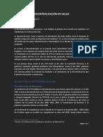 Jumpa (2012) - Balance Descentralización en Salud