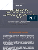 Dirtribucion de Frecuencias Datos Agrupados