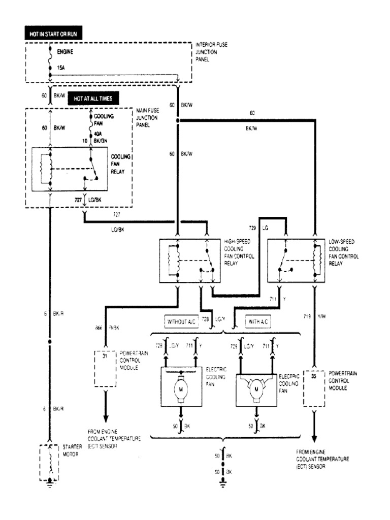 diagrama electrico de ford escort 97