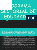 PRESENTACION- PROGRAMA SECTORIAL DE EDUCACIÓN